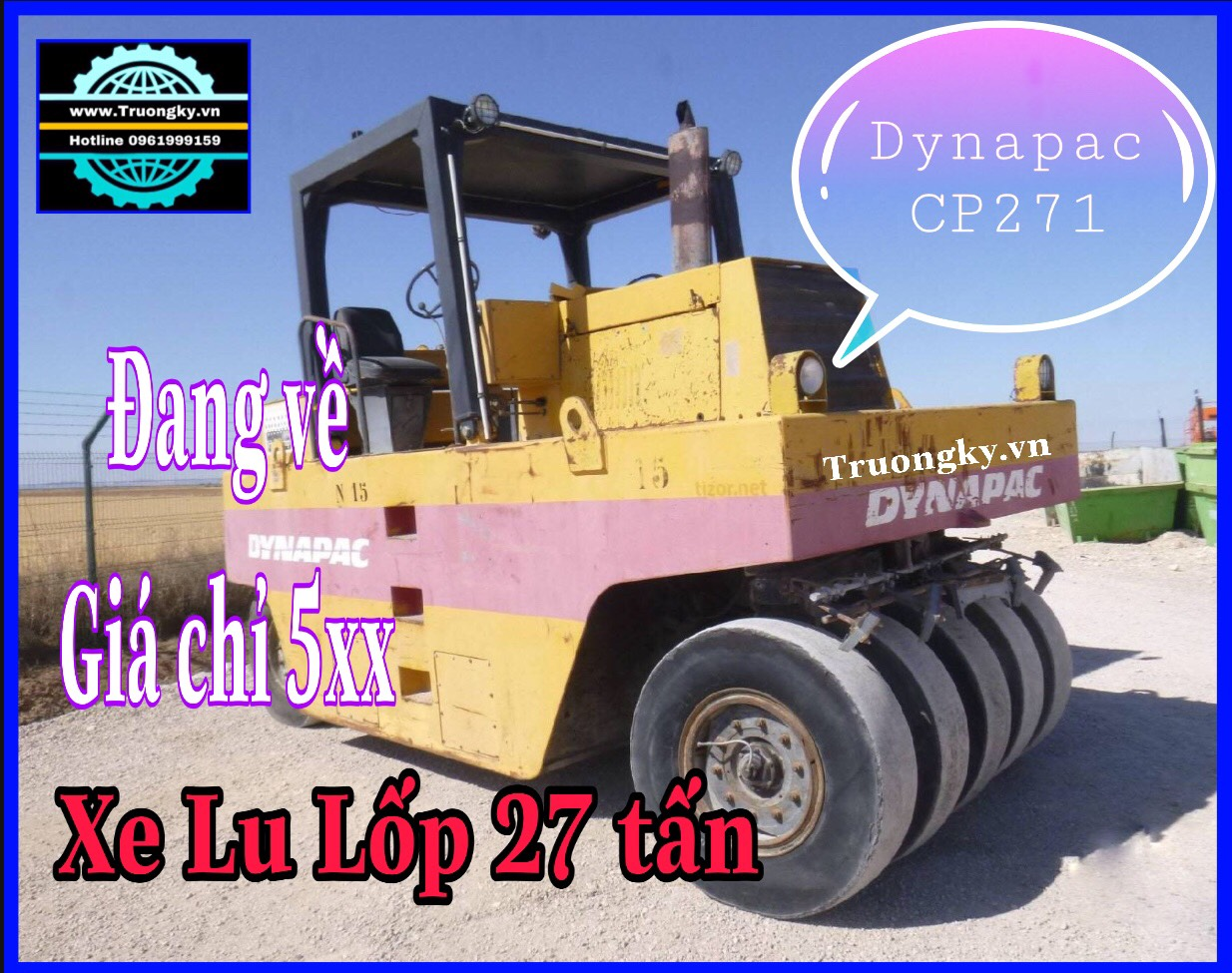 Lu lốp 27 tấn Dynapac CP271 (SOLD)