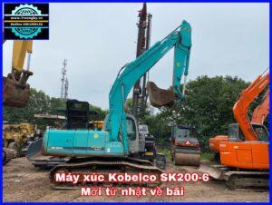 Máy xúc Kobelco SK200-6 mới về bãi