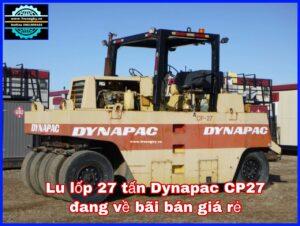 Lu lốp 27 tấn Dynapac CP27 đang về bãi