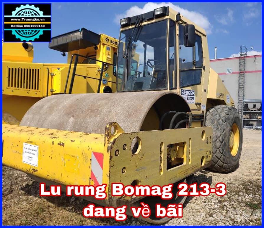 Lu rung Bomag BW213-3 đang về bãi